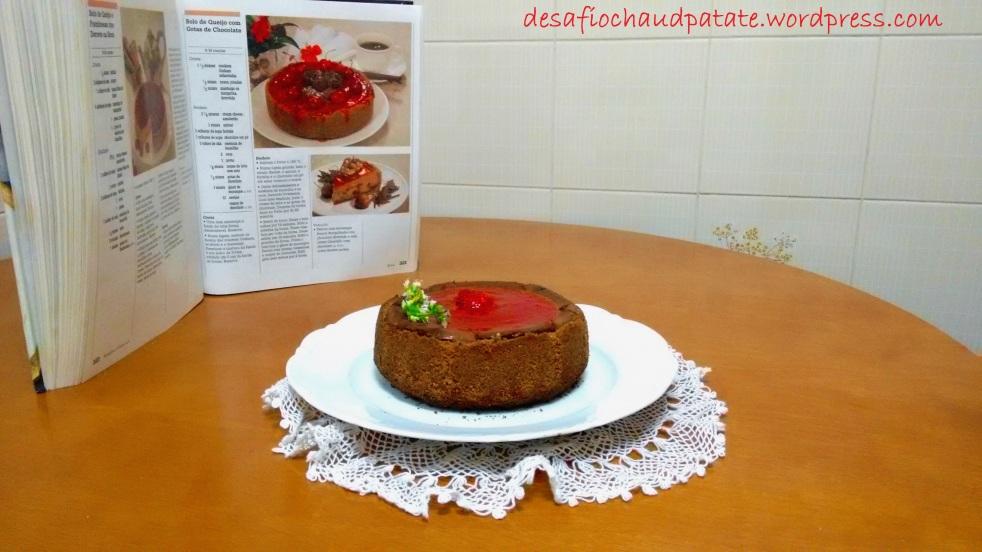cheesecake morango e chocolate