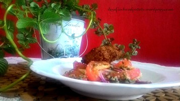 salade mojito et kebbe chaud patate