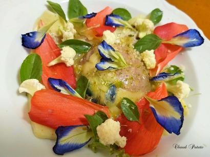 ravioloni aux fleurs chaud patate